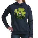 St Patricks Day Man with Beer Hooded Sweatshirt