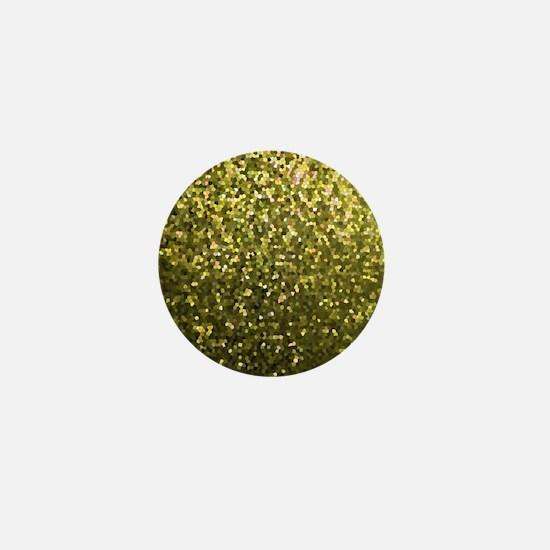 Gold Mosaic Sparkley 1 Mini Button
