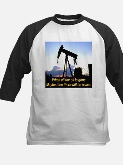 Oil and Peace Kids Baseball Jersey