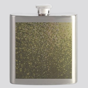 Gold Mosaic Sparkley 1 Flask