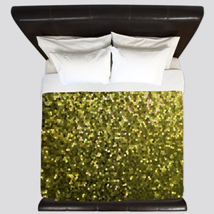 Gold Mosaic Sparkley 1 King Duvet