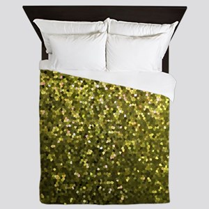 Gold Mosaic Sparkley 1 Queen Duvet
