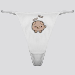 Cute Pink Pig Oink Classic Thong