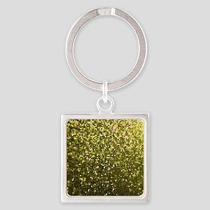 Square Keychain Gold Mosaic Sparkley 1 Keychains