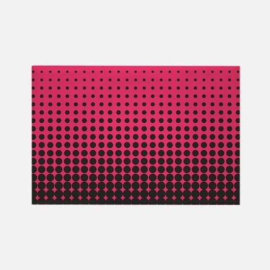 Halftone Dots Rectangle Magnet