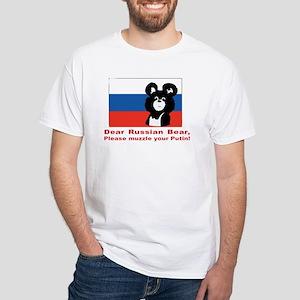 Muzzle Putin White T-Shirt