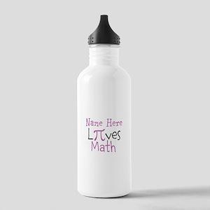 Pi Custom Loves Math Stainless Water Bottle 1.0L