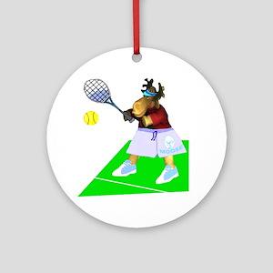 Tennis Moose Ornament (Round)