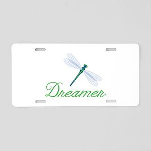 Dreamer Aluminum License Plate