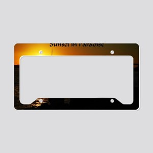 Sunset in Paradise License Plate Holder