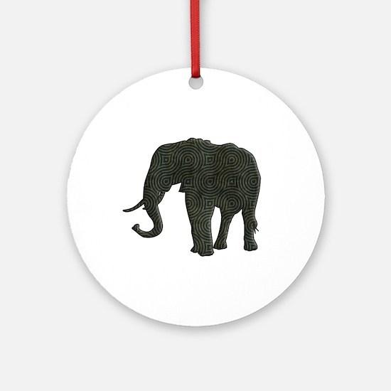 Elephant Ornament (Round)