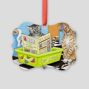 Cat 464 Picture Ornament