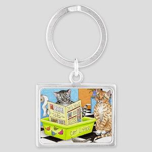 Cat 464 Landscape Keychain