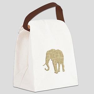 Elephant Canvas Lunch Bag