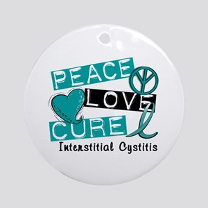 Peace Love Cure 1 Interstitial Cy Ornament (Round)