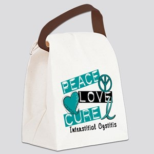 Peace Love Cure 1 Interstitial Cy Canvas Lunch Bag