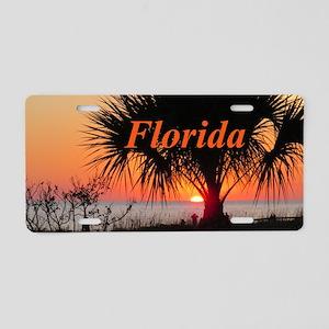 Florida Sunset Aluminum License Plate