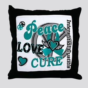 Peace Love Cure 2 IC Throw Pillow