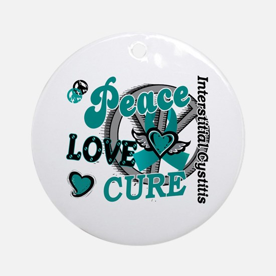 Peace Love Cure 2 IC Ornament (Round)