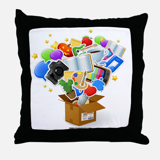 Junk Box Throw Pillow