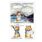 "Abrahamster in Alaska Postcards (Package of 8)6X4"""