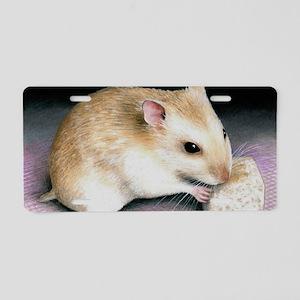 hamster 18 Aluminum License Plate