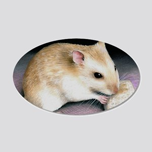 hamster 18 20x12 Oval Wall Decal
