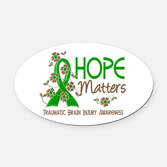 Hope Matters 3 IC Oval Car Magnet