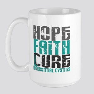 Hope Faith Cure IC Large Mug