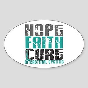 Hope Faith Cure IC Sticker (Oval)