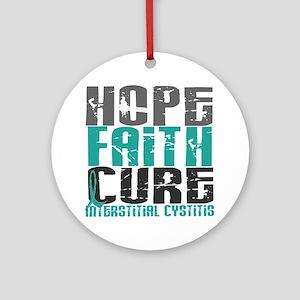 Hope Faith Cure IC Ornament (Round)