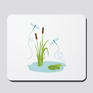 Cattails and Dragonflies Mousepad