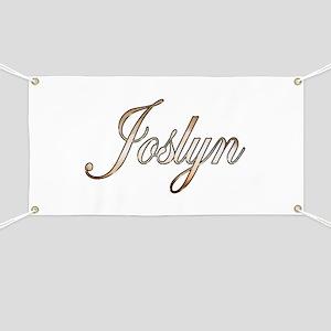 Gold Joslyn Banner