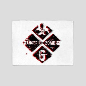 Zombie level 6 black 5'x7'Area Rug