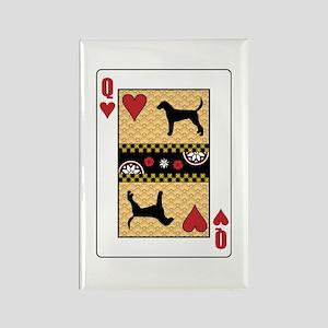 Queen Foxhound Rectangle Magnet