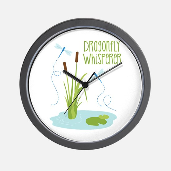 Dragonfly Whisperer Wall Clock