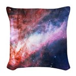 Omega Nebula Woven Throw Pillow