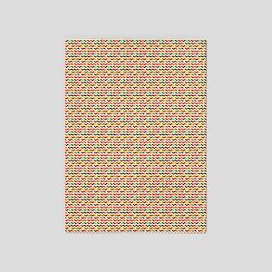 Multicolored Chevron 5'x7'Area Rug