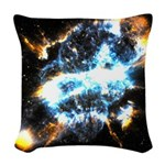 NGC 5189: Skull In The Sky Woven Throw Pillow