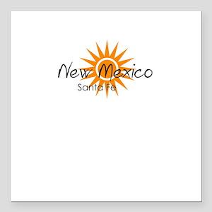 "santa fe new mexico Square Car Magnet 3"" x 3"""