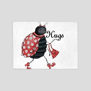 Ladybug Hugs 5'x7'Area Rug