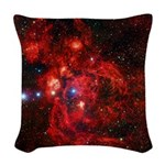 Lobster Nebula Woven Throw Pillow