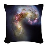 Antennae Galaxy Woven Throw Pillow