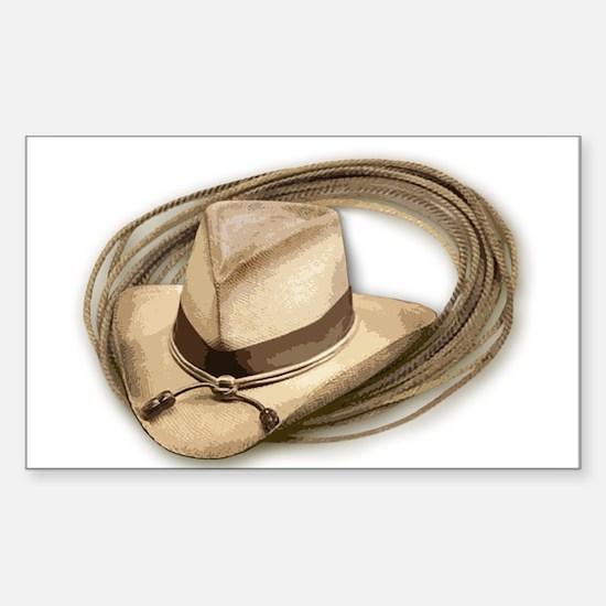 cowboy hat horses Decal