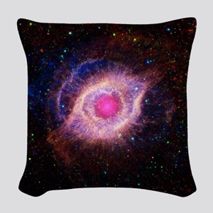 Helix Nebula: Gods Eye Woven Throw Pillow