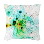 Lobster Nebula Negative Woven Throw Pillow