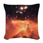 Fire Eyes: NGC 6375 Woven Throw Pillow