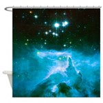 Night Trench: NGC 6357 Shower Curtain