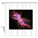 Butterfly Nebula Pink Shower Curtain