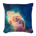 Carina Nebula [Up Close] Woven Throw Pillow